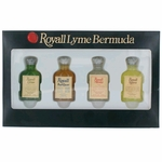 Royall Lyme Bermuda Collection by Royall Fragrances, 4 Piece Mini Variety Set for Men