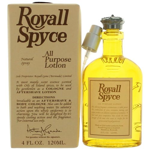 Royall Spyce by Royall Fragrances, 4 oz All Purpose Lotion Spray for Men