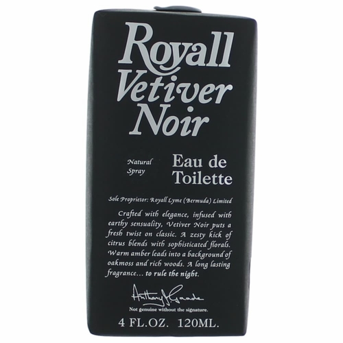 Royall Vetiver Noir by Royall Fragrance, 4 oz Eau De Toilette Spray for Men