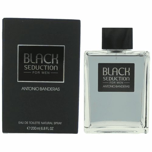 Seduction in Black by Antonio Banderas, 6.8 oz Eau de Toilette Spray for Men