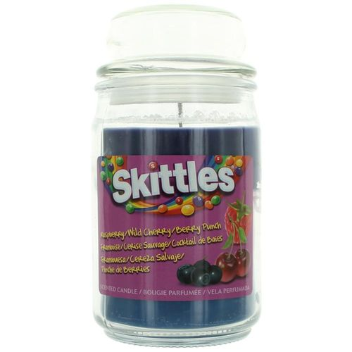 Skittles Scented Candle 16 oz Triple Pour Jar - Raspberry/Wild Cherry/Berry Punch