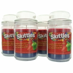 Skittles Scented Candle 4 Pack of 16 oz Triple Pour Jars - Strawberry/Green Apple/Grape
