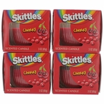 Skittles Scented Candle 4 Pack of 3 oz Jars - Cherry