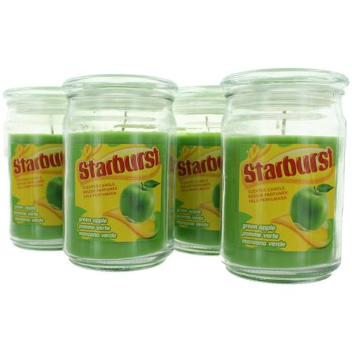 Starburst Scented Candle 4 Pack of 16 oz Jars - Green Apple