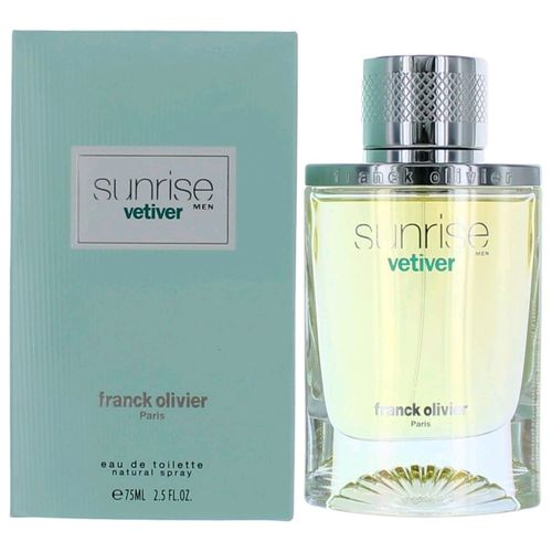 Sunrise Vetiver by Franck Olivier, 2.5 oz Eau De Toilette Spray for Men
