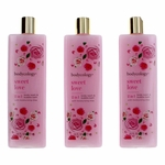 Sweet Love by Bodycology, 3 Pack 16 oz 2-1 Body Wash & Bubble Bath for Women