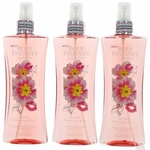 Sweet Primrose Kiss Fantasy by Body Fantasies, 3 X 8 oz Fragrance Body Spray Women