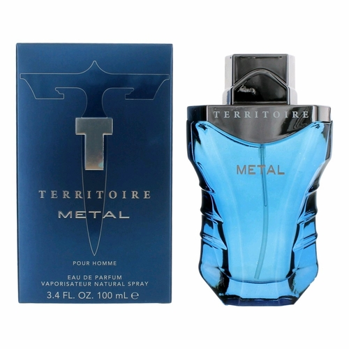 Territoire Metal by YZY, 3.4 oz Eau De Parfum Spray for Men