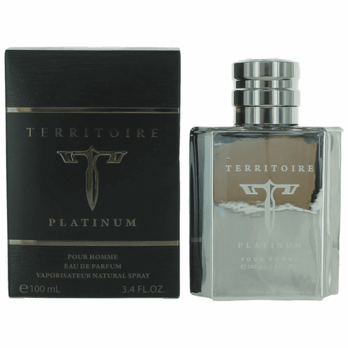 Territoire Platinum by YZY, 3.4 oz Eau De Parfum Spray for Men