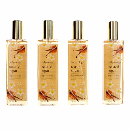 Toasted Sugar by Bodycology, 4 Pack 8 oz Fragrance Mist for Women
