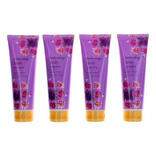 Truly Yours by Bodycology, 4 Pack 8 oz Moisturizing Body Cream for Women