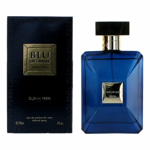 Unbelievable Blu Intense by Glenn Perri, 3.4oz Eau De Parfum Spray for Men