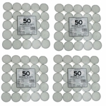 Unscented White Tea Lights Candles by Star Candle Company, 200 Pack - Unscented