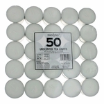 Unscented White Tea Lights Candles by Star Candle Company, 50 Pack - Unscented