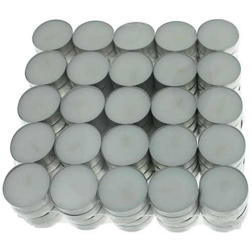 Unscented White Tealights Candles by USA Tealights, 100 Pack - Unscented