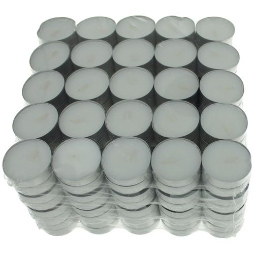 Unscented White Tealights Candles by USA Tealights, 200 Pack - Unscented