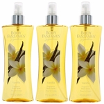 Vanilla by Body Fantasies, 3 Pack 8 oz Fragrance Body Spray for Women