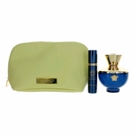 Versace Pour Femme Dylan Blue by Versace, 3 Piece Gift Set for Women