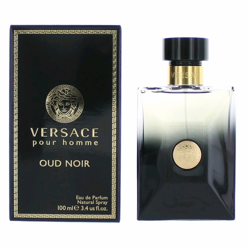 Versace Pour Homme Oud Noir by Versace, 3.4 oz Eau De Parfum Spray for Men