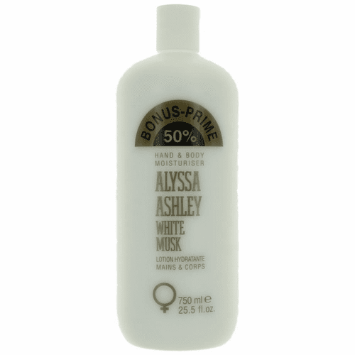 White Musk by Alyssa Ashley, 25.5 oz Hand & Body Moisturizer for Women