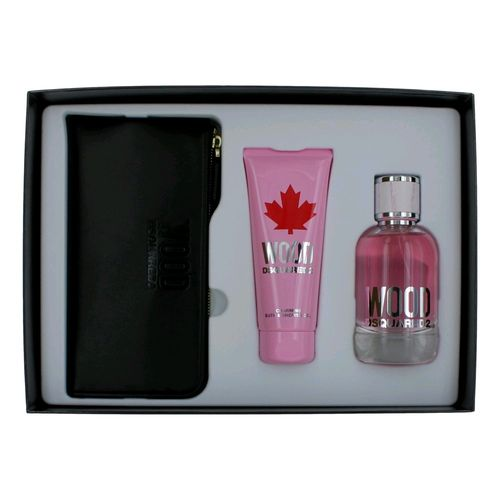 Wood Pour Femme by Dsquared2, 3 Piece Gift Set for Women