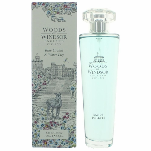 Woods Of Windsor Blue Orchid & Water Lily by Woods Of Windsor, 3.3 oz Eau De Toilette Spray for Women