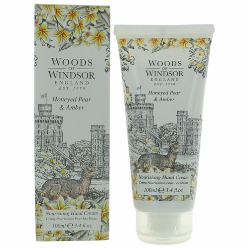 Woods Of Windsor Honeyed Pear & Amber by Woods Of Windsor, 3.4 oz Nourishing Hand Cream for Women
