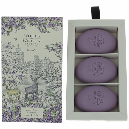 Woods of Windsor Lavender by Woods of Windsor, 3 X 2.1 oz Luxury Soap for Women