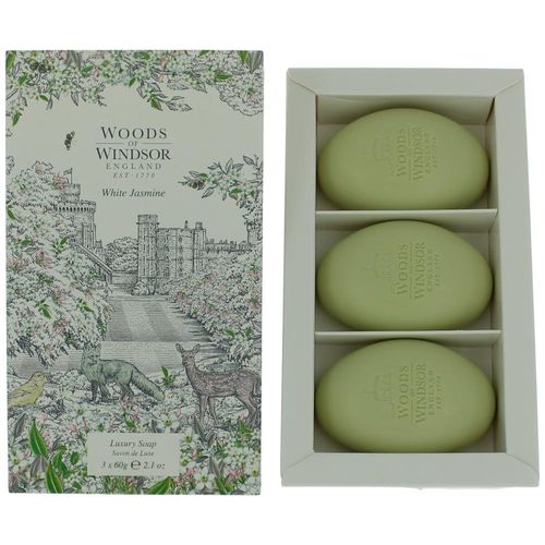 Woods of Windsor White Jasmine by Woods of Windsor, 3 X 2.1 oz Luxury Soap for Women