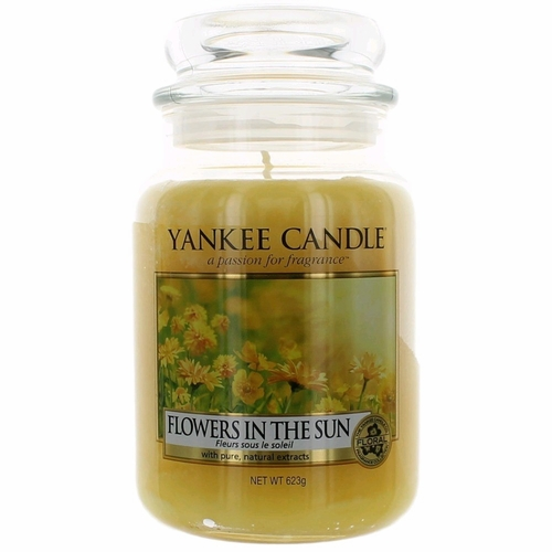 Yankee Candle Scented 22 oz Large Jar Candle - Flowers In The Sun