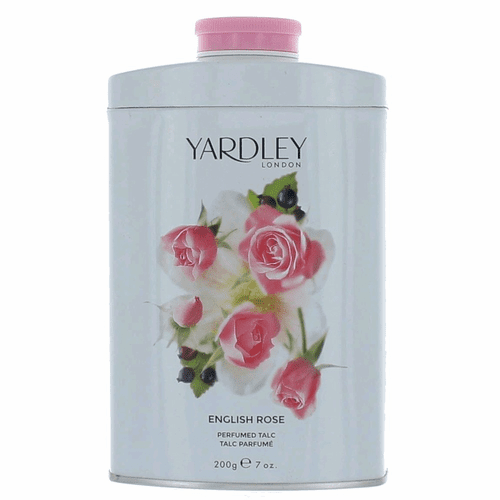 Yardley English Rose by Yardley of London, 7 oz Perfumed Talc for Women
