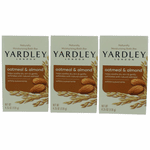 Yardley Naturally Moisturizing Bar Oatmeal & Almond by Yardley of London, 3 x 4.25 oz Soap for Women
