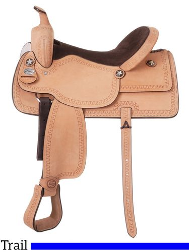 """10"""" King Series Cowboy Roughout Saddle with Serpentine Tooling 182"""