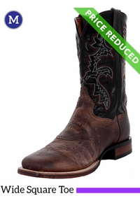 12EE Men's Dan Post Franklin Cowboy Certified Sand and Black Boots DP2815, CLEARANCE
