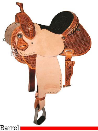 "DISCONTINUED 2021/05/08 12.5"" to 15.5"" Reinsman Marlene McRae Special EFFX Barrel Saddle 4241 w/Free Pad"