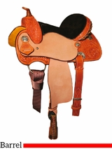 """10"""" to 13"""" Circle Y Little Cowpoke Youth Barrel Racer Saddle 3002"""