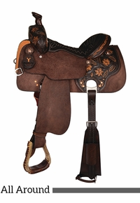 "12"" to 16"" Circle Y All-Around Helena Saddle 2724 w/Free Pad"