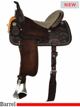 "12"" to 16"" Reinsman Barrel Saddle 4204 w/Free Pad"