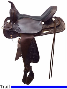 """13"""" to 17"""" High Horse by Circle Y Mineral Wells Trail Saddle 6812 w/Free Pad"""