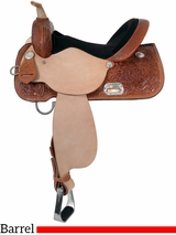 "13"" to 17"" High Horse by Circle Y Liberty Barrel Saddle 6212 w/Free Pad"