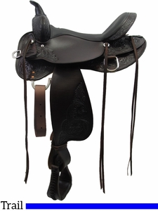 """13"""" to 17"""" High Horse by Circle Y Oyster Creek Trail Saddle 6808 w/Free Pad"""