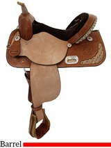 "DELETE 9-6-18 DISCONTINUED 13"" to 17"" High Horse by Circle Y Proven Aurora Barrel Saddle 6215 w/$105 Gift Card"