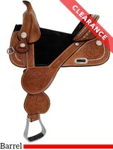 "13.5"" Circle Y Fischer Treeless Barrel Saddle 1310, CLEARANCE"