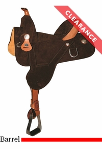 "13.5"" Circle Y Rally Treeless Barrel Saddle 2310, CLEARANCE"