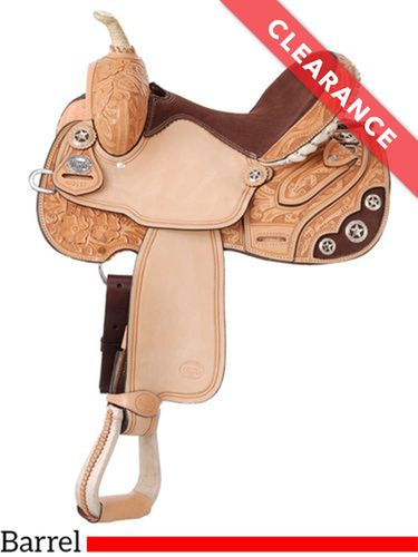 "13.5"" Silver Royal Lamar All Around Barrel Saddle 211, CLEARANCE"