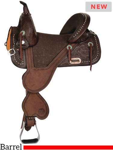 "13.5"" to 16.5"" Circle Y Tammy Fischer Short Horn Remuda Signature Treeless Barrel Saddle 1316 w/Free Pad"