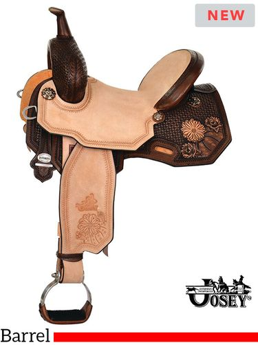 "13.5"" to 17"" Circle Y Martha Josey Ultimate Cash Desert Barrel Saddle 1149 w/Free Pad"
