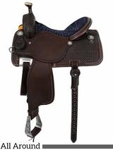 "** SALE **13.5"" to 17"" Martin Saddlery High Plains Midnight Blue All-Around Saddle 14-C2"