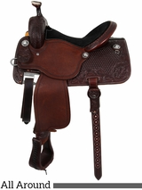 "13.5"" to 17"" Martin Saddlery High Plains Black Rose All-Around Saddle 14-C3"
