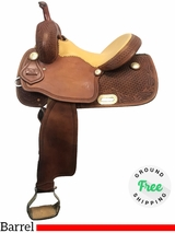 """PRICE REDUCED! 13.5"""" Used Trent Ward Wide Barrel Saddle ustw3962 *Free Shipping*"""